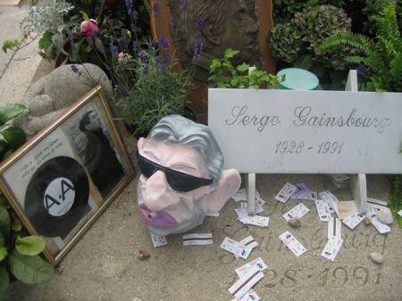 Tombe de Gainsbourg